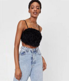 Feather Gonna Get It Strappy Crop Top