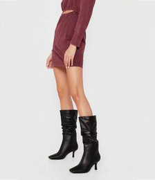 Get Off the Slouch Heeled Calf-High Boots
