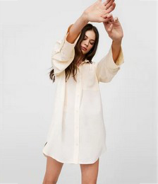 Starting Over-sized Mini Shirt Dress