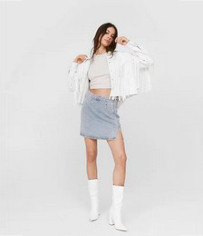 Hey Wash You Want Denim Mini Skirt