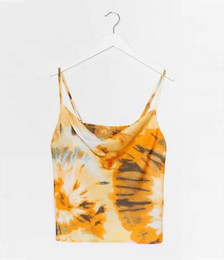 Right On Tie Dye Cowl Crop Top
