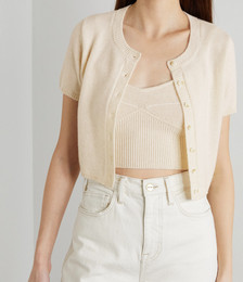 + NET SUSTAIN Gisela Recycled Cashmere-blend Cardigan and Camisole Set
