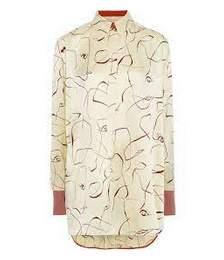 Siara Printed Silk-satin Tunic