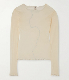 + NET SUSTAIN Rio Grande Ruffled Embroidered Organic Cotton Top