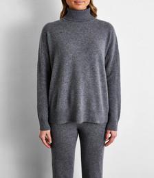 100% Cashmere Sweater in Fog