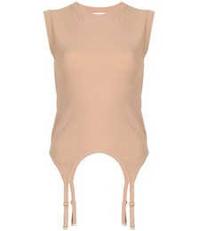 Garter design sleeveless top