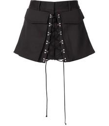 Hook-detail tailored shorts