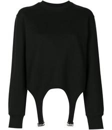 Garter detail sweatshirt