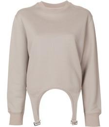 Garter design sweatshirt