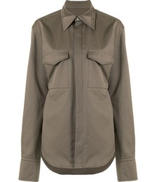 Belted utility shirt