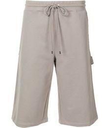 Drawstring knee-length shorts