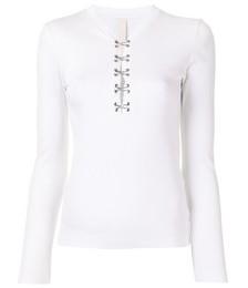 hook-detail long sleeve top