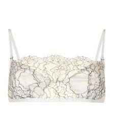 Lace-panelled bra