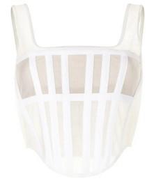 Sheer bandage corset