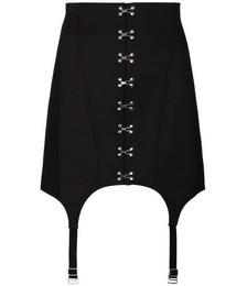 Suspender-detail corset mini skirt