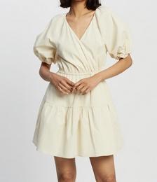 Vega Check Mini Wrap Dress
