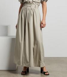 Frost Pleat Maxi Skirt