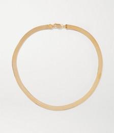 Herringbone XL Gold Vermeil Necklace