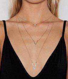 V Mine Layered Necklace