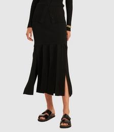 Knit Fringe Skirt