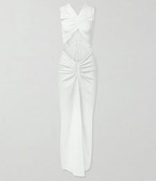 Ruched Cutout Stretch-jersey Maxi Dress