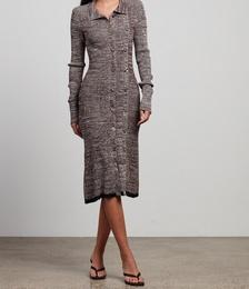 Double Button Knit Dress