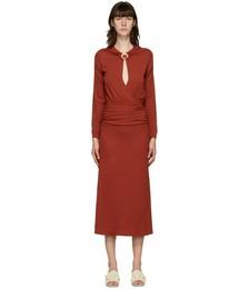 Red Cummerbund Orbit Dress