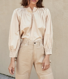 Lucia Sand Smocked Blouse