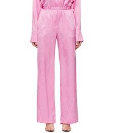 Pink Silk Lounge Pants