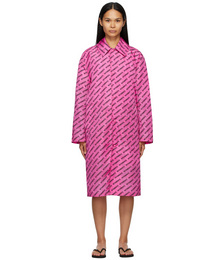 Pink Logo Light Raincoat