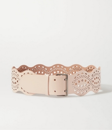 Laser-cut Leather Waist Belt