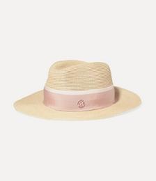Henrietta Grosgrain-trimmed Straw Hat