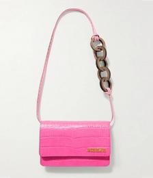 Le Riviera Croc-effect Leather Shoulder Bag