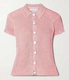 + NET SUSTAIN Ribbed-knit Shirt