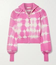 Florrie Tie-dyed Cotton-blend Track Jacket