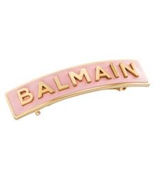 Luxury Hair Barrette Pastel Pink With Golden Logo