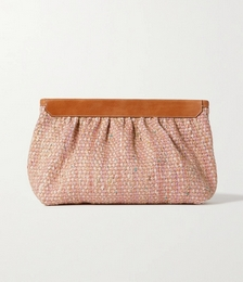 Luz Leather-trimmed Tweed Clutch