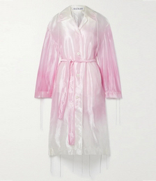 Belted Ombré Organza Trench Coat