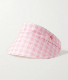 Claudia Reversible Gingham Canvas and Cotton Visor