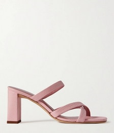Lenny Textured-leather Mules