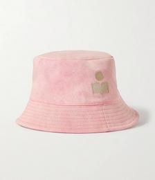 Haley Embroidered Stretch-cotton Twill Bucket Hat