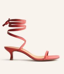 Carina Lace Up Mid Heel Sandal