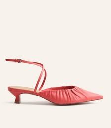 Sabrina Ankle Wrap Kitten Heel Mule