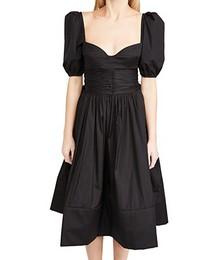 Ladies Woven Rosette Dress