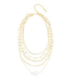 Layered Irregular Baroque Bead Necklace