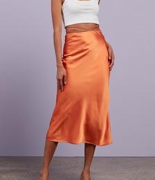 Parisian Girl Silky Midi Skirt
