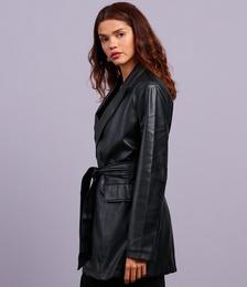 Impulsive Belted PU Jacket
