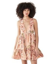 Candescent Plunge Neck Mini Dress