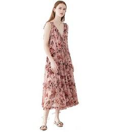 Cassia Frill Midi Dress