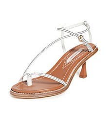 Skinny Strap Heeled Sandals